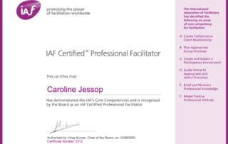 Certified Professional Facilitator Caroline Jessop